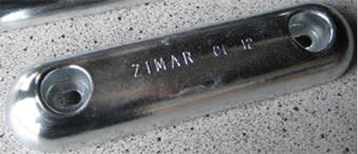Picture of CL-12 Zimar Bolt On Drilled Plate Zinc