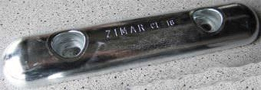 Picture of CL-18 Zimar Bolt On Drilled Plate Zinc