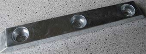 Picture of K-15 Zimar Bolt On Drilled Plate Zinc