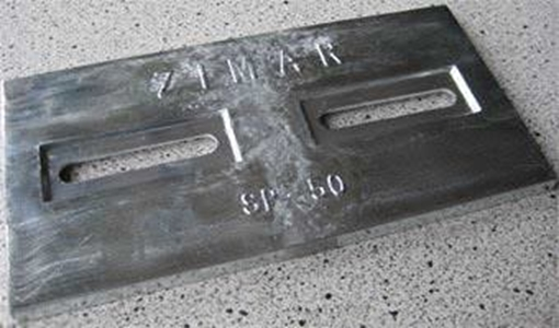 Picture of SP-50 Divers Plate Zimar Bolt On Drilled Plate Zinc