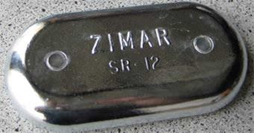 Picture of SR-12 Zimar Bolt On Drilled Plate Zinc