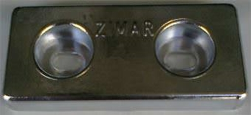 Picture of TA-3 Zimar Bolt On Drilled Plate Zinc