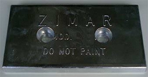 Picture of UP-5 Zimar Bolt On Drilled Plate Zinc