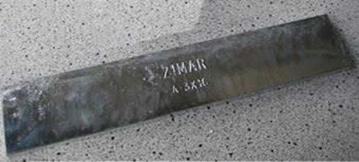 Picture of A-1-1/2X12 Zimar Bolt On Undrilled Plate Zinc