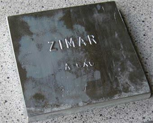 Picture of A-6X6 Zimar Bolt On Undrilled Plate Zinc