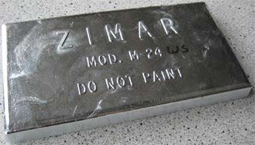 Picture of M-24WS Zimar Bolt On Undrilled Plate Zinc