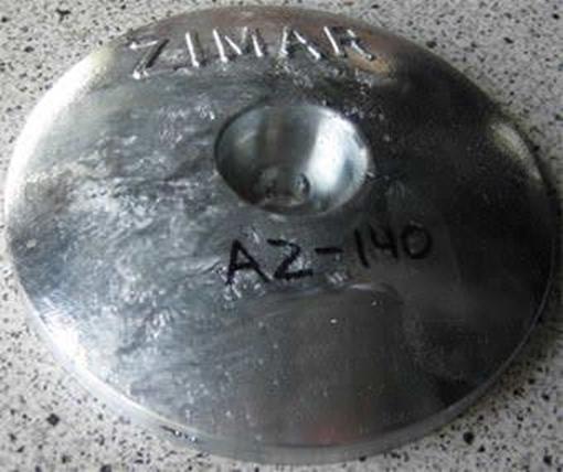 Picture of AZ-140 Zimar Round Plate Zinc