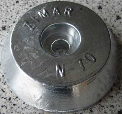 Picture of N-70 Zimar Round Plate Zinc