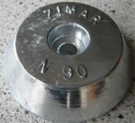 Picture of N-90 Zimar Round Plate Zinc