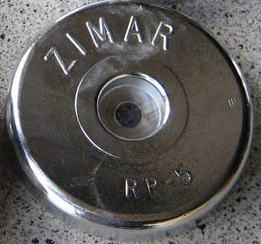 Picture of RP-5 Zimar Round Plate Zinc