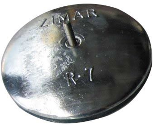 "Picture of R-7 6-1/2"" Zimar Rudder Zinc"