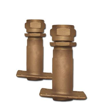Picture for category Outside Mount Square Flange Angled Bronze Rudder Ports
