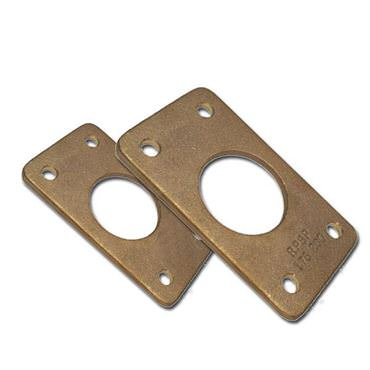Picture for category Rectangular Flange Bronze Rudder Port Backing Plates