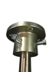 fit face coupling to stainless shaft