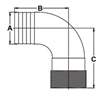 Picture of 00HN150E 90 Degree Bronze Pipe to Hose Adapters