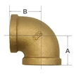 Picture of 00101025 90 Degree Bronze Elbows