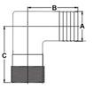 Picture of 60TLS23 90 Degree Tuff-Lite Nylon Elbows (Combo)