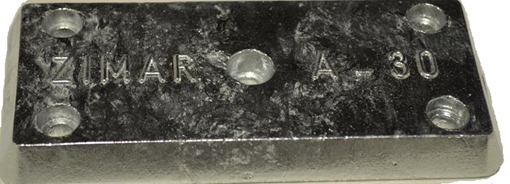 Picture of A-30 Zimar Bolt On Drilled Plate Zinc