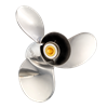 stainless propeller for MERCURY/HONDA 40-140HP 17