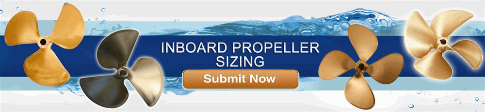 Michigan Wheel Inboard boat prop sizing